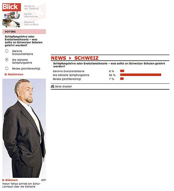 Image result for Fansız bilim sitesinde yapılan anket, halkın evrime artık inanmadığını ortaya koydu