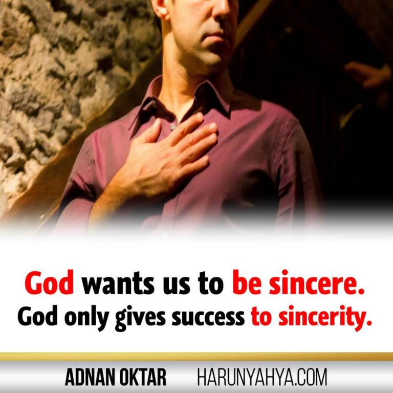 Adnan Oktar Says -Love and Sincerity-