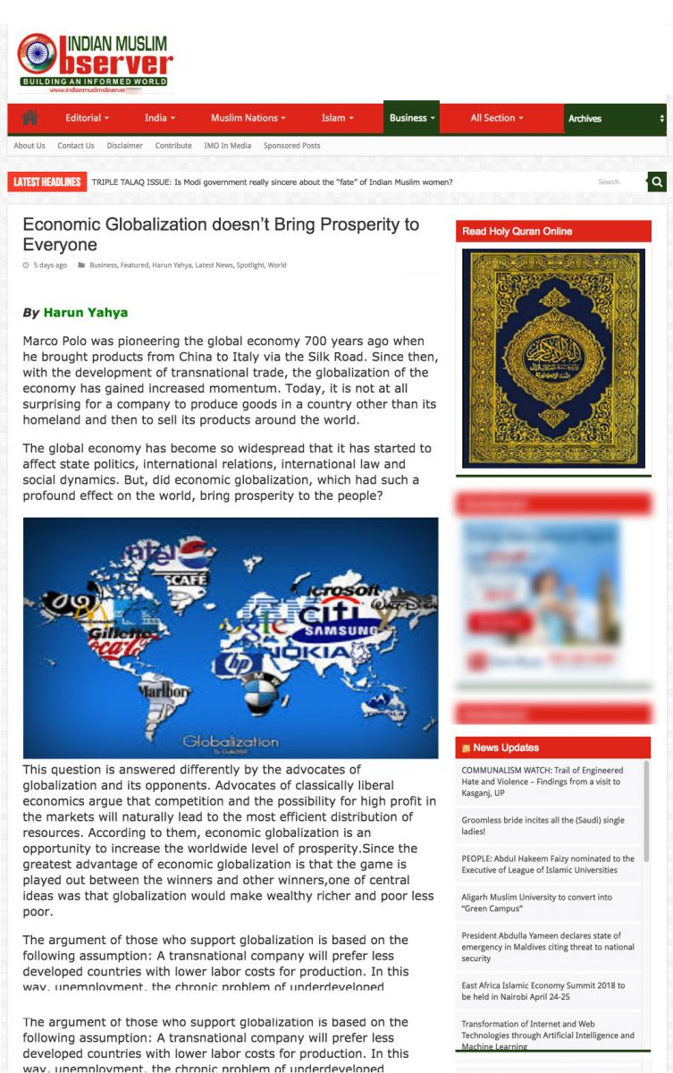 Economic globalization a code for exploitation?