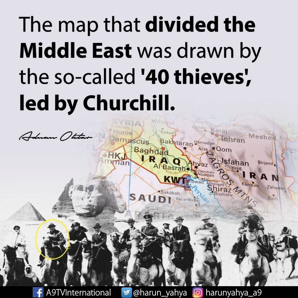 The map that divided the Middle East was drawn by the so-called \'40 ...