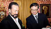 Mr. Adnan Oktar with officials from Chinese Embassy, Ankara Mr. Wang Xiaoning