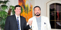 Mr. Adnan Oktar with Mr. Larry Greenfield - US politician and TV host