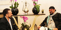 Mr. Adnan Oktar and his guest;  famous American singer, actor and director Steven Seagal