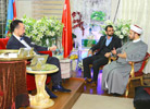 Mr. Adnan Oktar and his guest: Khaled Rezk El Sayed Takiyuddin, Head of Muslim Scholar's Association in Brasil