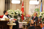 Mr. Adnan Oktar with Franco Frattini the former Foreign Minister of Italy