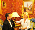 Mr. Adnan Oktar and famous singer & actress esteemed Seda Sayan