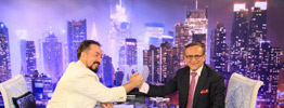 Mr. Adnan Oktar with Prof. Hooshang Amirahmadi, president of the Iran American Council