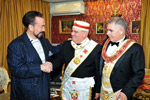 - Mr. Adnan Oktar  - Mr. Aldo Zucca, Grand Treasurer of the Grand Lodge of Italy u.m.s.o.i. - Mr. Gian Franco Pilloni, Grand Master of the Grand Lodge of Italy u.m.s.o.i.