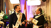 Mr. Adnan Oktar and Victor German Serna, Sovereign Grand Commandor of the Supreme Council of Hispanic North America, from Las Vegas