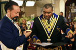 Mr. Adnan Oktar and Charles Mabry, Grand Master of the United Masonic Assembly of U.S.A., from Chicago