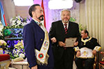 Mr. Adnan Oktar and David Munoz, Grand Master of the Hispanic Grand Lodge of North America, from Los Angeles