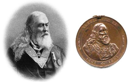 Albert Pike Masonic medallion