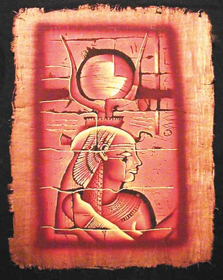 An Ancient Egyptian depiction of Isis