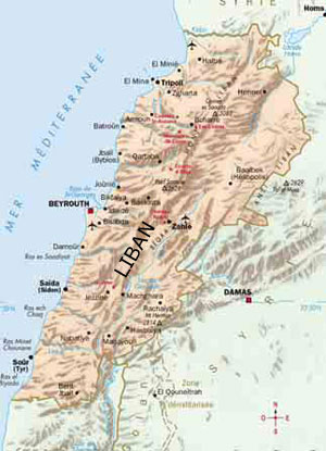 Lebanon map