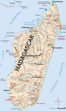 Madagascar map