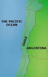 Chile, map
