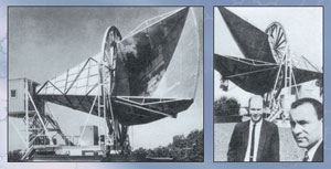 The gigantic horn antenna, Bell Laboratories, Arno Penzias and Robert Wilson discovered the cosmic background radiation.
