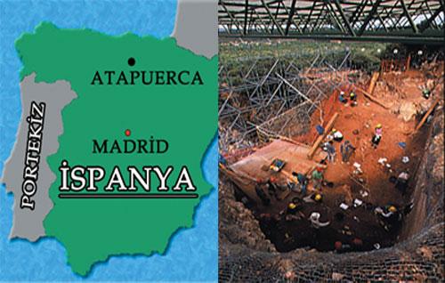 Gerçek bir insan olan Atapuerca fosilinin bulunduğu İspanya'daki Gran Dolina mağarası