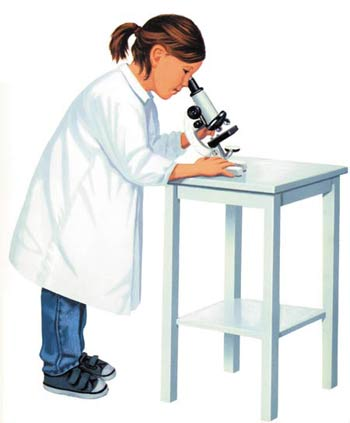 Microscope, child
