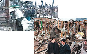 On October 21, 1999, a rocket attack on a crowded shopping center in the Chechen capital of Grozny resulted in 110 deaths and 400 injuries.