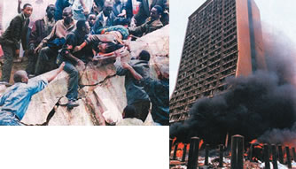 As a result of bomb explosions at the U.S. embassies in Kenya and Tanzania on August 7, 1998, 224 people were killed and hundreds were injured.