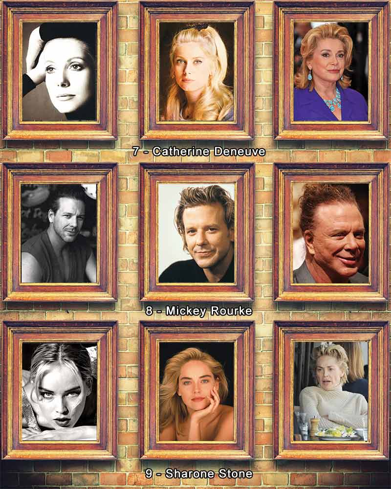 Catherine Deneuve Mickey Rourke Sharone Stone