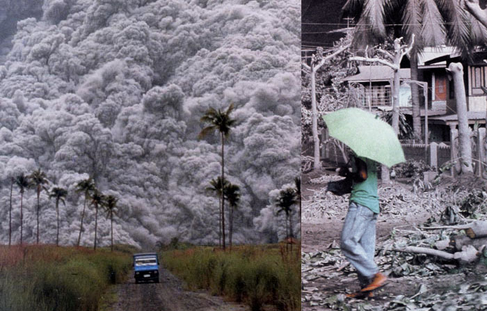 nuages de gaz incandescents, 1991, Mont Pinatubo